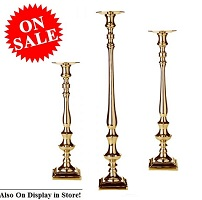 3-Piece Candle Holders Gold