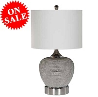 "Ackles 24"" Beaded Table Lamp Collection"