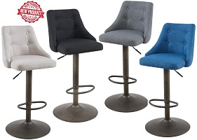 Adyson Fabric Gas Lift Stools