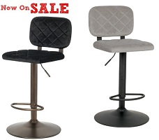 Aiko Gas Lift Stools in Fabric