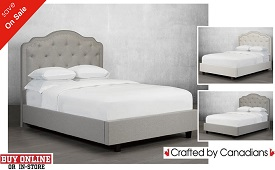 Anabella Tufted Fabric Bed Collection