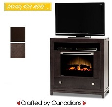 Bennett TV Stand w/ Fire Place Collection