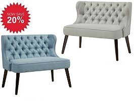 Biscotti Upholstered Double Bench Collection