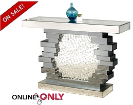 Bliss Mirrored Console & Mirror Collection