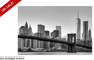"Brooklyn Bridge 68""x42"" Wall Art"