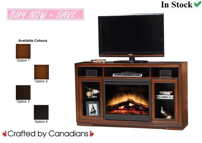 Brooklyn TV Stand w/ Fireplace Collection