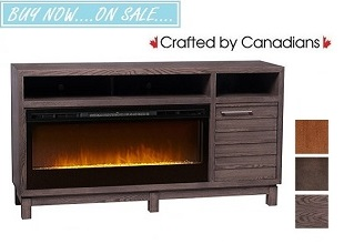 Carter TV Stand w/ Fireplace Collection