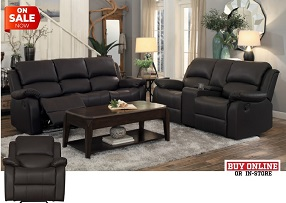 Cascade Faux Leather Reclining Collection