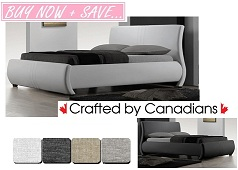 Christy Curved Fabric Bed Collection