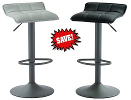 Comet Gas Lift Stools in Faux leather