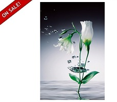 "Crystal Flowers 42"" x 68"" Wall Art"