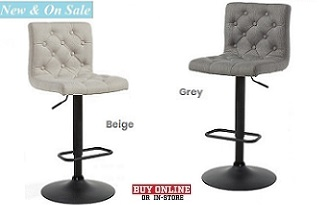 Dex Tufted Fabric Stool Collection