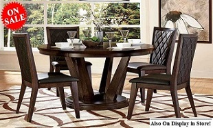 Diamond Back 5-pc Round Dining