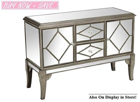 Elle Mirrored Console Collection