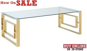 """Eros """"Gold"""" Coffee Table Collection"""
