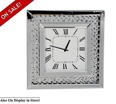 "Glam 20"" Square Wall Clock"