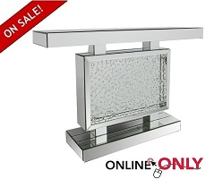 "Glam 48"" Mirror & Crystal Console"