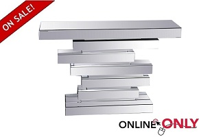 "Glam 48"" Tiered Mirror Console Table"