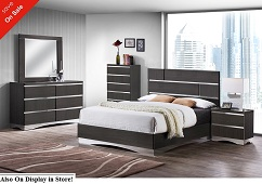 Graylynn Acrylic 5 or 6-Piece Bedroom