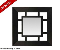 "Impressions 25"" Square Single Wall Mirror"