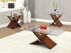 Java 3-Pack Glass Top Table Collection