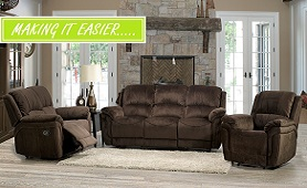 Lea Side Fabric Recliner Collection