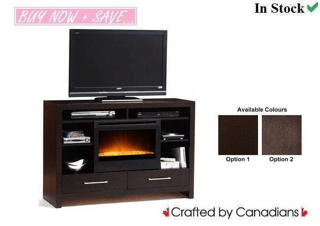 Medeira TV Stand w/ Fire Place