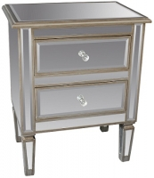 Eden Mirrored Accent Table Collection
